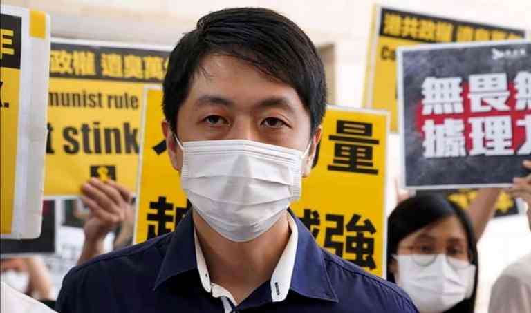 Former pro-democracy lawmaker Ted Hui Chi-fung's bank accounts freezed by authorities in Hong Kong
