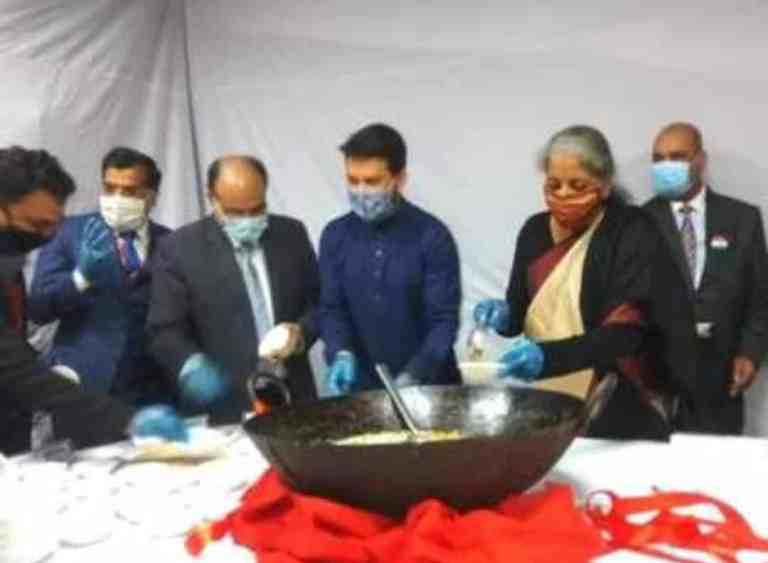Final stage of Budget 2021-22 begins with Halwa Ceremony