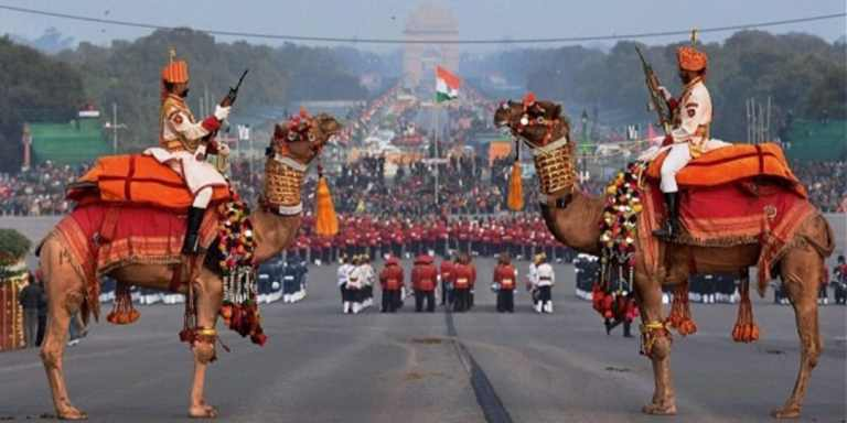 Beating Retreat ceremony held at Vijay Chowk