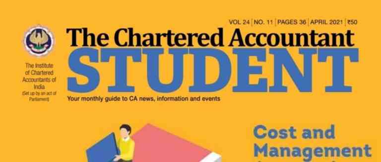 ICAI Students' Journal – The Chartered Accountant – April 2021 Issue
