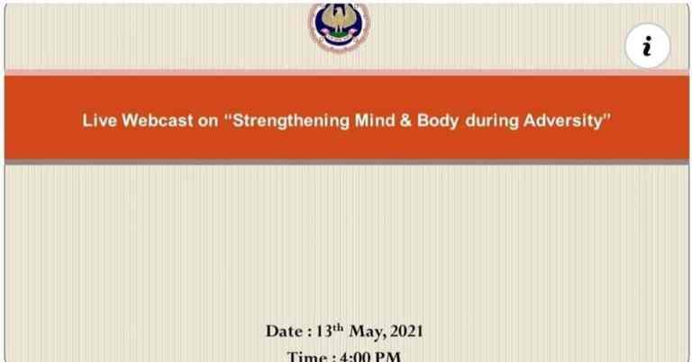 For ICAI webinar on Strengthening Mind & Body during Adversity
