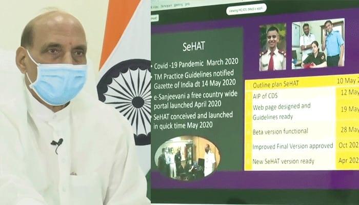 Raksha Mantri Shri Rajnath Singh launches SeHAT OPD portal