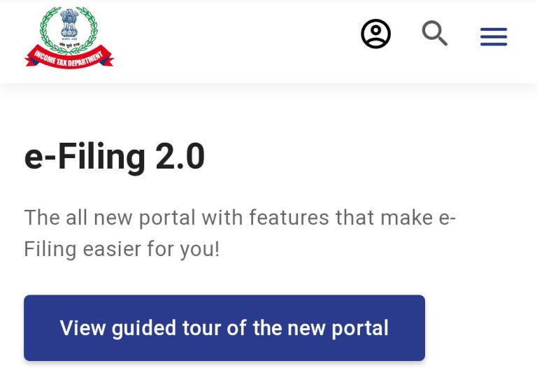 New Income Tax E-filing Portal is Now Live