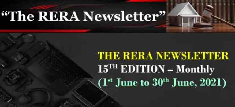 15th Edition of the RERA Newsletter (Compliances under RERA)