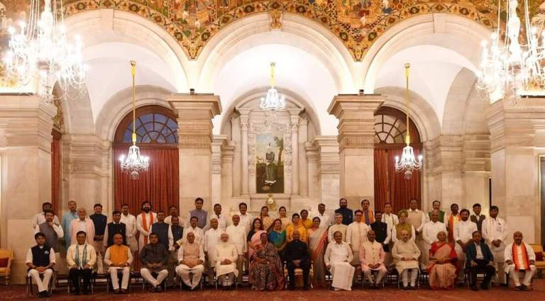 Modi Cabinet 2.0 Ministers List: Advised by the Prime Minister, has directed the allocation of portfolios among the following members of the Council of Ministers