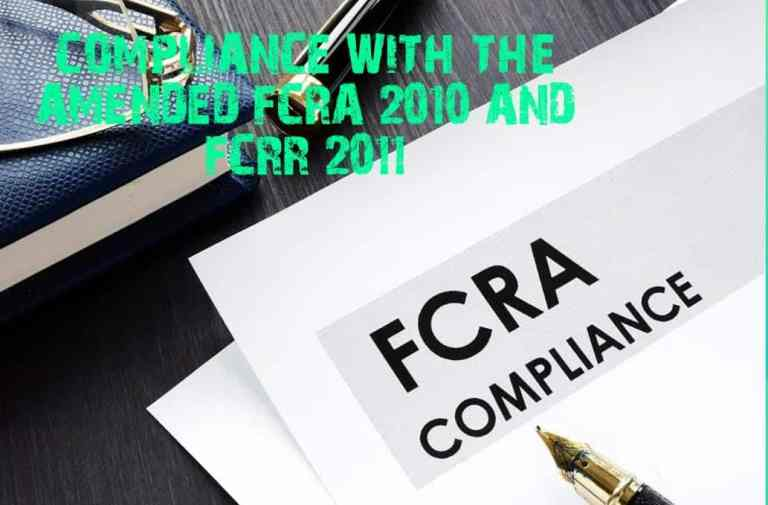 COMPLIANCE WITH THE AMENDED FCRA 2010 AND FCRR 2011