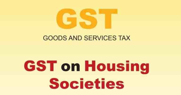 GST on Housing Societies