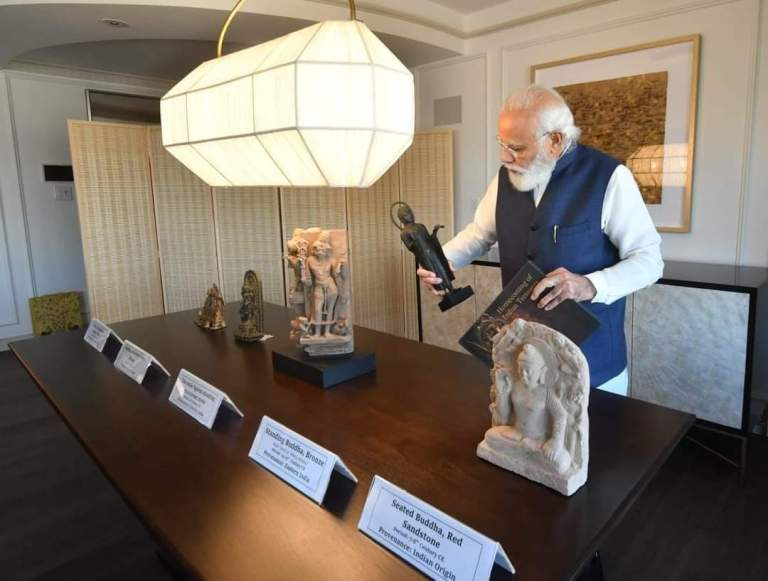 157 artefacts & antiquities were handed over by the United States during Prime Minister Modi's visit