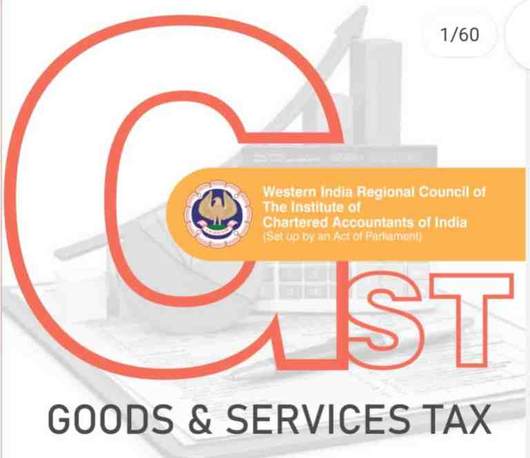 GST booklet by WIRC of ICAI