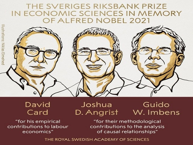 Nobel Prize in economics – Joshua Angrist, Guido Imbens and David Card