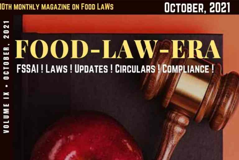 Food Law Era- October ,2021 Newsletter