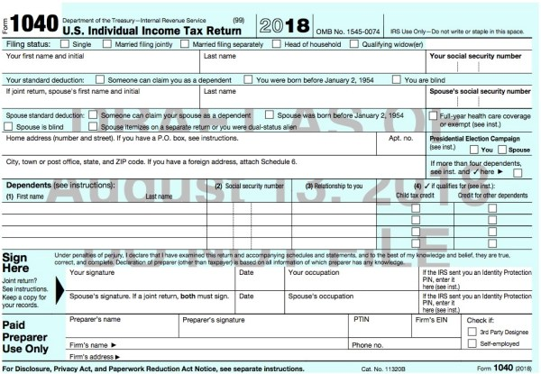 What Tax Form Should I Use? (2018 tax year) – Taxes Are Easy