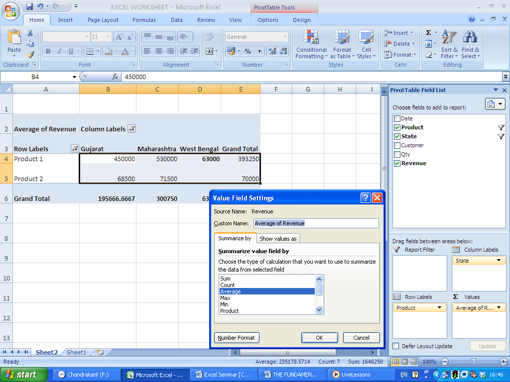 Pivot Tables Excel Tool For Dataysis