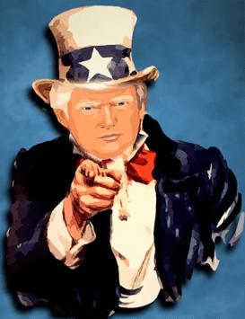Cartoon of Donald Trump as Uncle Sam