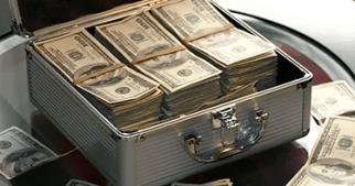 cash in a brief case