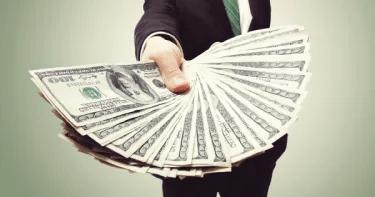 hand full of cash