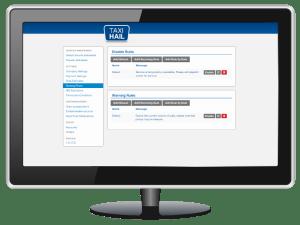 TaxiHail Admin Portal Booking Rules Settings