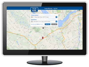 TaxiHail Web Booking Fare Estimate Message