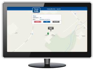 TaxiHail Web Booking Passengers In Taxi Message