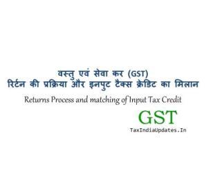 GST Return की प्रक्रिया और Input Tax Credit का मिलान