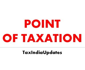 Service Tax Point of Taxation Rules 2016