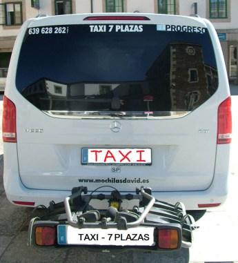 Taxi Peregrino 7 Plazas + Portabicicletas
