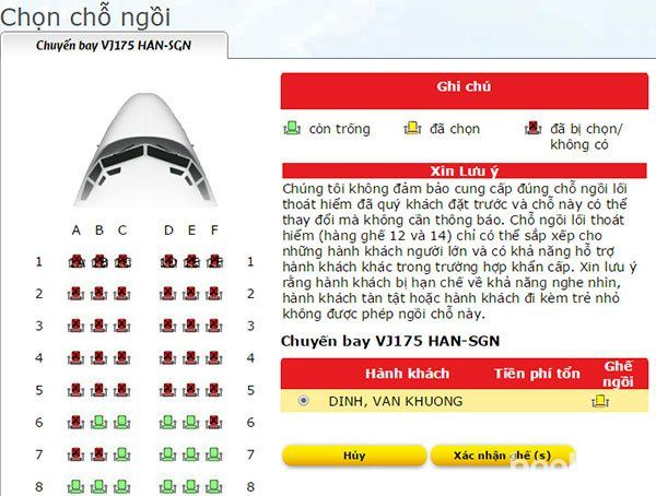 Thủ tục check in onlineVietjet Air - hinh 3