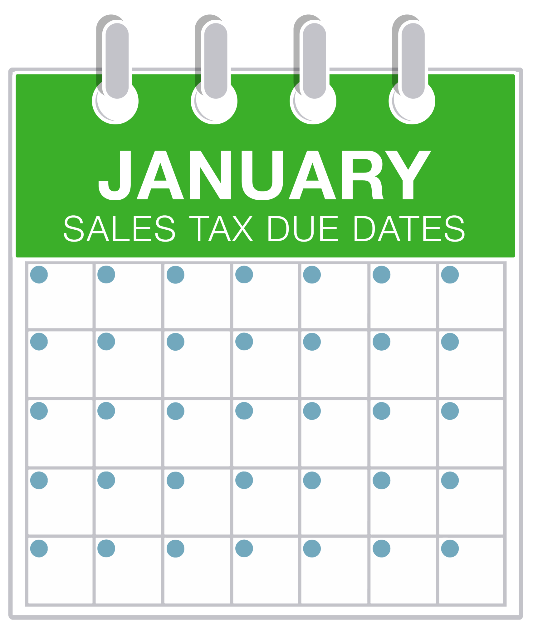 January Sales Tax Due Dates