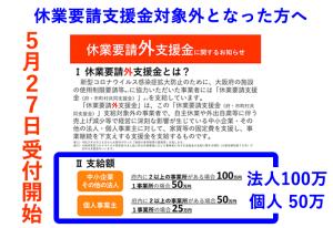 大阪府の休業要請外支援金