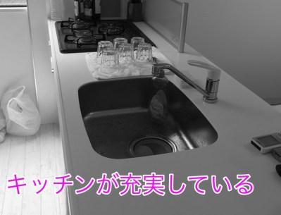 アパートメントホテルのキッチン
