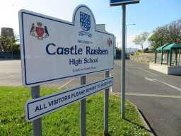 Castle Rushen High School sign