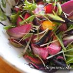 高島の美味しいお野菜で作った発酵料理、冬の焼き野菜発酵サラダ