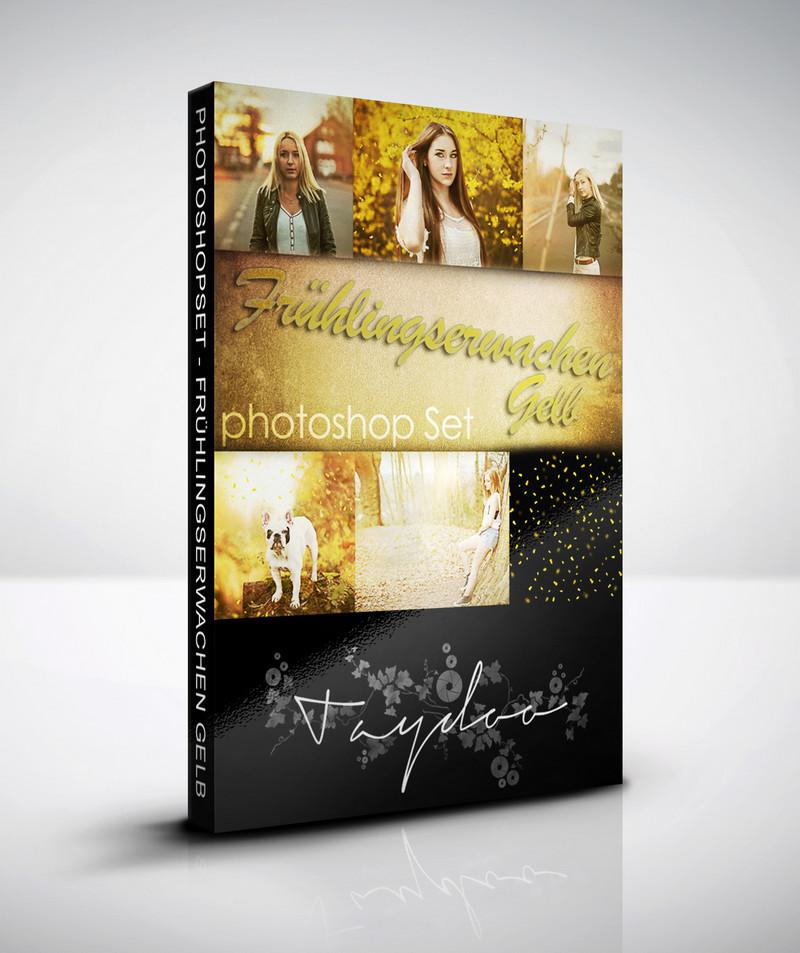 Produktbox Photoshop Set – Frühlingserwachen Gelb