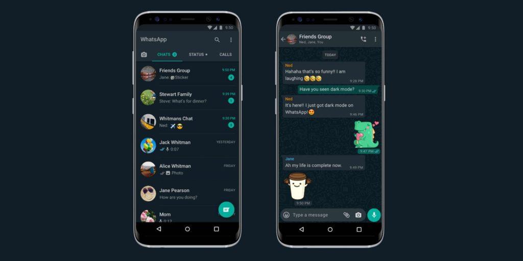 WhatsApp Karanlık Mod Kullanmak