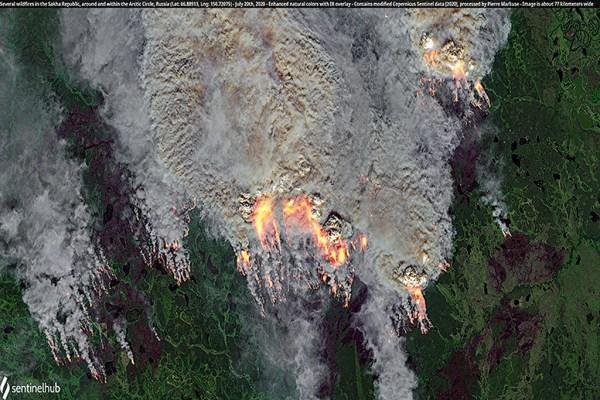 Лесные пожары в Якутии. Фото