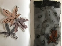 Experimenation - using stitch and real leaves