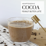 Adaptogenic Cocoa Peanut Butter Latte - Tayler Silfverduk - Looking to include more adaptogens into your diet? Do you love chocolate and peanut butter? Try out this quick, delicious, and beneficial adaptogenic latte!