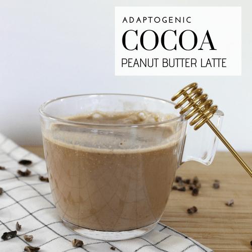 Adaptogenic Cocoa Peanut Butter Latte