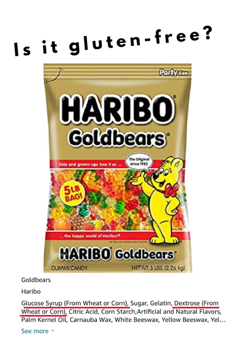 Are Haribo Gummy Bears Gluten-free - Tayler Silfverduk, celiac dietitian - are haribo gummy bears celiac safe, dextrose celiac safe, dextrose gluten-free, glucose from wheat gluten-free, dextrose from wheat gluten-free