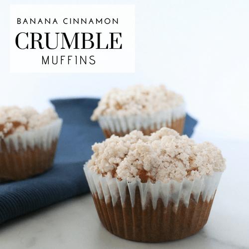 Banana Cinnamon Crumble Muffins