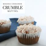 Banana Cinnamon Crumble Muffins - Tayler Silfverduk