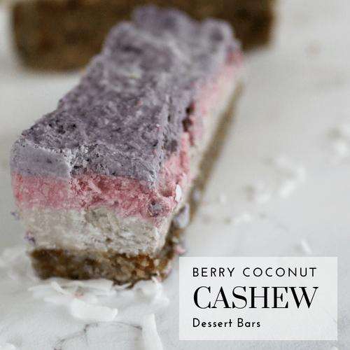 Raw Berry Cashew Dessert Bar