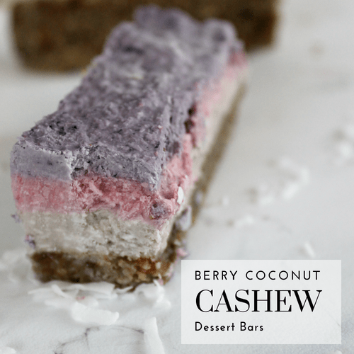 Raw Berry Cashew Dessert Bar
