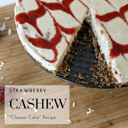 Strawberry Cashew Cheeze Cake Recipe