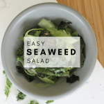 Easy Seaweed Salad Recipe - Tayler Silfverduk - This Seaweed salad is so good you won't be able to kelp yourself! Easy, nourishing, and tasty, this is recipe is a must! #seaweed #salad #saladbowl #saladrecipe #fillingsalad #proteinsalad #plantbased #vegan #celiacdisease #celiac #glutenfree #glutenfreerecipe #naturallyglutenfree #greenrecipe #cucumber #kale #nutrition