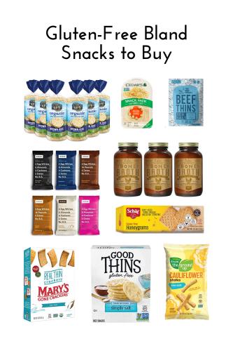 Gluten-Free Bland Diet Snacks to Buy from Amazon - Tayler Silfverduk, celiac dietitian