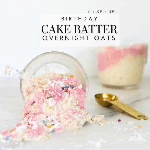 Gluten-Free Cake Batter Overnight Oats