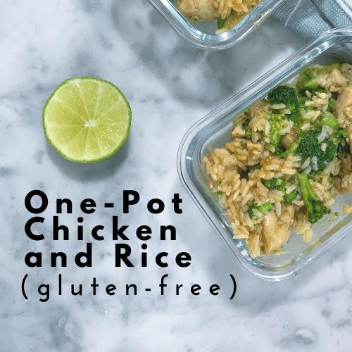 One-Pot Chicken and Rice (gluten-free)