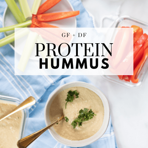 Protein hummus recipe - Tayler Silfverduk DTR - grass-fed beef collagen, beef collagen, collagen, celiac disease, protein hummus, gluten-free hummus, protein packed hummus, how to eat more protein, gluten-free snack, celiac safe snack, grain-free snack, protein packed snack, protein snack, #grainfreerecipe #glutenfreerecipe #hummusrecipe #proteinpacked #glutenfree #celiacsafe #celiaceats