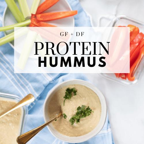 Protein Hummus Recipe (gluten-free and dairy-free)